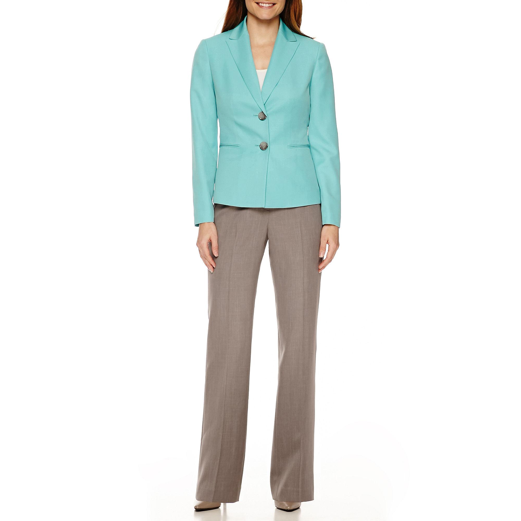 Le Suit Long-Sleeve Peak Lapel Pant Suit Set plus size,  plus size fashion plus size appare