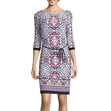 jcpenney.com | Liz Claiborne® Printed Sheath Dress