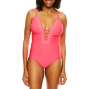 Ninety Six Degrees Embroidered Triangle One-Piece Swimsuit