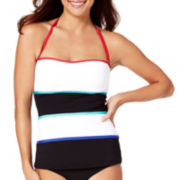 Liz Claiborne® Colorblock Bandeaukini Swim Top