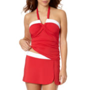 Liz Claiborne® Bandeaukini Swim Top and Split Swim Skirt - Misses
