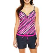 Free Country® Stripe Tankini Swim Top or Drawstring Swim Shorts