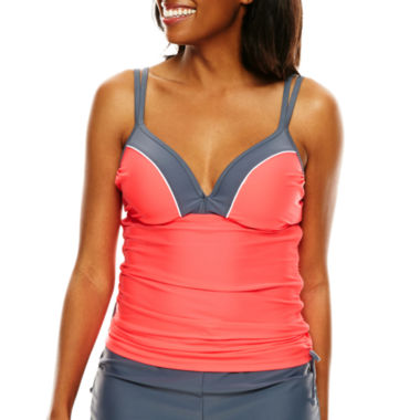 jcpenney.com | Free Country® Double-Strap Adjustable Tankini Swim Top