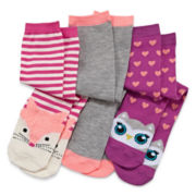 Capelli New York Kids 3-pk. Critter Knee-High Socks