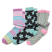 Capelli New York Kids 3-pk. Star Knee-High Socks - Girls