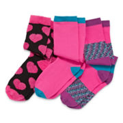 Capelli New York Kids 3-pk. Heart Knee-High Socks - Girls