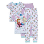 Disney Frozen 4-pc. Pajama Set - Girls 4-10