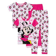 Disney Minnie Mouse 4-pc. Pajama Set - Girls 4-10