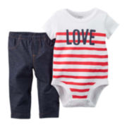 Carter's® Love Bodysuit and Pants Set - Baby Girls newborn-24m
