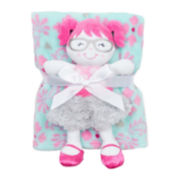 Cutie Pie 2-pc. Printed Velboa Blanket with Doll