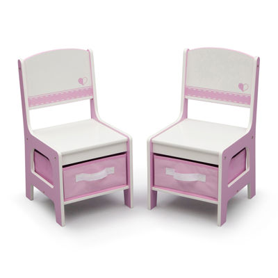 Jack Amp Jill Storage Table And Chair Set Pink And White