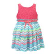 Lilt Sleeveless Lace Tier Dress - Toddler Girls 2t-4t