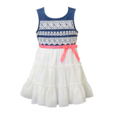 jcpenney.com | Lilt Sleeveless Denim Tiered Dress - Toddler Girls 2t-4t