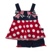 Rare Editions Americana Sleeveless Top and Shorts Set - Toddler Girls 2t-4t