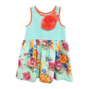 Marmelatta Sleeveless Chiffon Floral Sundress - Toddler Girls 2t-4t