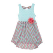 Rare Editions Sleeveless High-Low Chevron Dress - Preschool Girls 4-6x