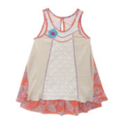 Rare Editions Sleeveless Paisley Shift Dress - Preschool Girls 4-6x