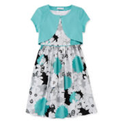 Bonnie Jean® Floral Dress with Cardigan - Girls 7-16