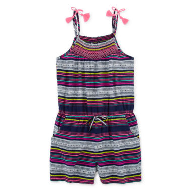 jcpenney.com | Arizona Sleeveless Romper with Tassels - Girls 7-16