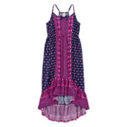Arizona Mixed-Print Peasant Dress - Girls 7-16