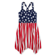 Arizona Americana Stars and Stripes Dress - Girls 7-16 and Plus