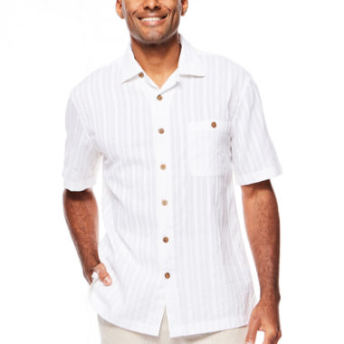 jcpenney.com | Island Shores™ Short-Sleeve Dobby Camp Shirt
