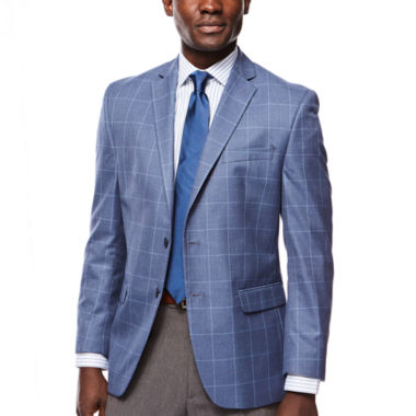 jcpenney.com | Collection by Michael Strahan Blue Windowpane Sport Coat - Classic Fit