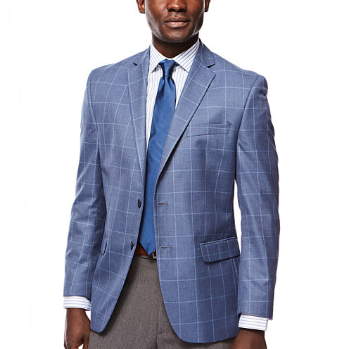 Collection by Michael Strahan Blue Windowpane Sport Coat - Classic Fit