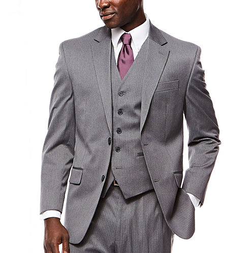 IZOD® Gray Striped Suit Jacket