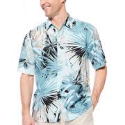 The Havanera Co.® Short-Sleeve Tropical Printed Woven Shirt