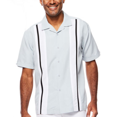 jcpenney.com | The Havanera Co.® Short-Sleeve Tricolor Panel Woven Shirt