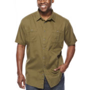 The Foundry Supply Co.™ Short-Sleeve Vintage Dolby Woven Shirt - Big & Tall