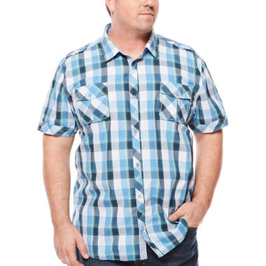 jcpenney.com | i jeans by Buffalo Manberg Short-Sleeve Woven Shirt - Big & Tall