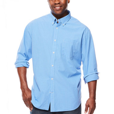 jcpenney.com | The Foundry Supply Co.™ Long-Sleeve Poplin Woven Shirt - Big & Tall