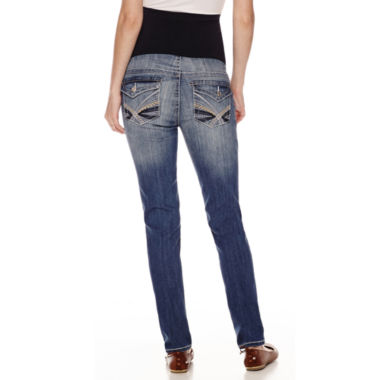 jcpenney.com | Tala Overbelly Embroidered-Pocket Skinny Jeans - Plus