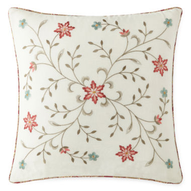 "jcpenney.com | Home Expressions™ Laura 16"" Square Decorative Pillow"
