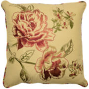 Waverly® Floral Flourish Cordial Square Decorative Pillow