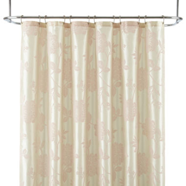 jcpenney.com | Liz Claiborne® Bijoux Flocked Floral Shower Curtain Display