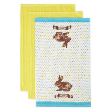 jcpenney.com | JCPenney Home™ Easter 3-pc. Kitchen Towels