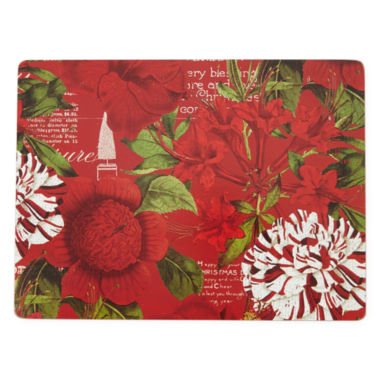 jcpenney.com | Manorcraft by Pimpernel® Botanique Noel Set of 4 Cork-Backed Placemats