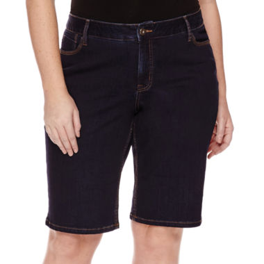 jcpenney.com | St. John's Bay® Denim Bermuda Shorts - Plus