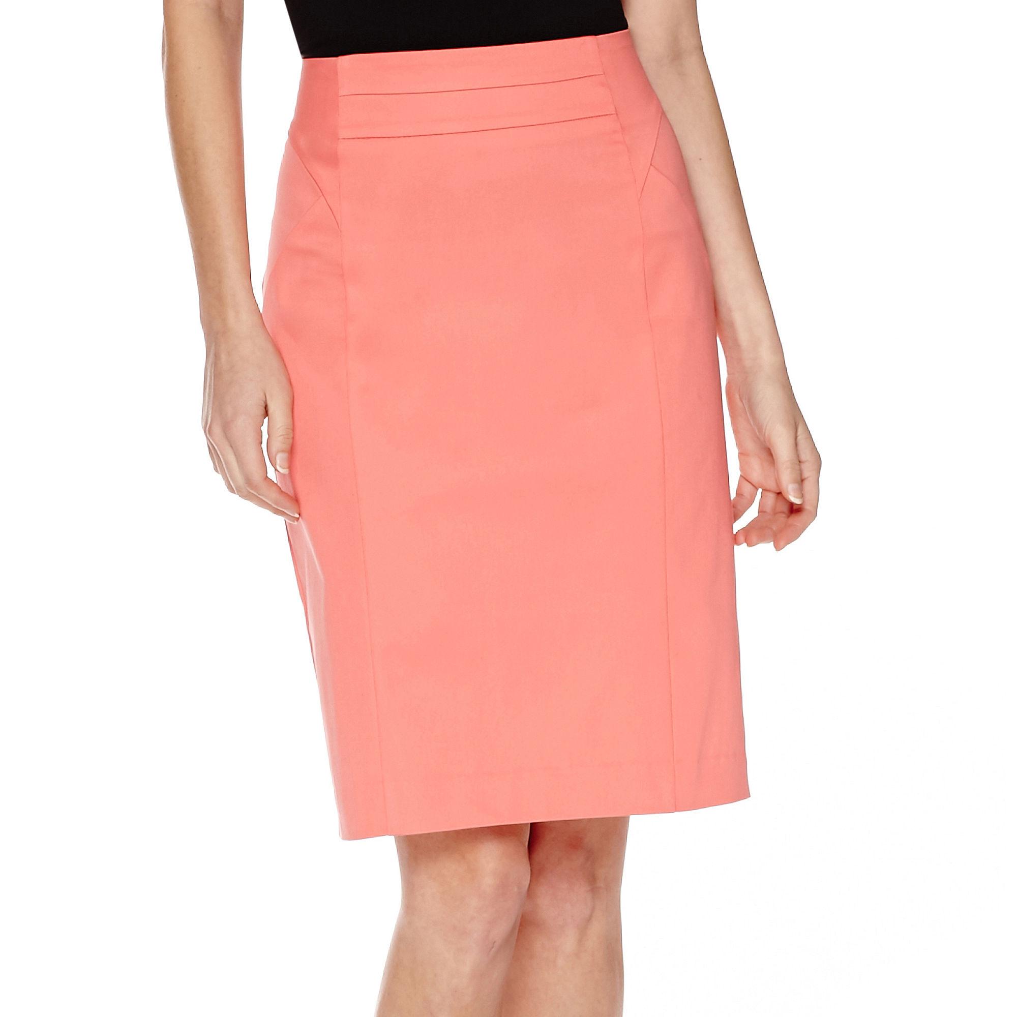 Worthington High-Waist Sateen Skirt - Tall plus size,  plus size fashion plus size appare