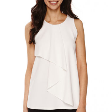 jcpenney.com | Worthington® Sleeveless Front-Ruffle Top - Tall
