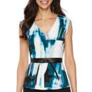 Worthington® Belted Peplum Top - Tall