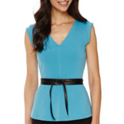 Worthington® Sleeveless Peplum Top