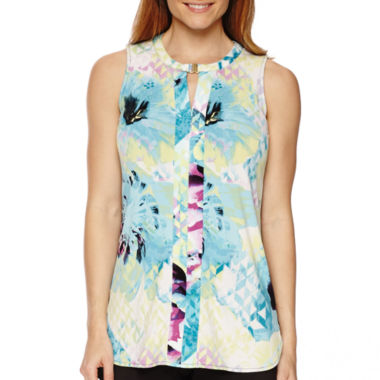 jcpenney.com | Worthington® Sleeveless Metal Detail Tunic Top - Tall