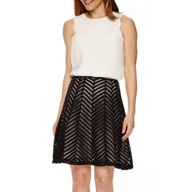 jcpenney.com | Worthington® Scalloped-Edge Top or Sliced Flare Skirt