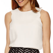 Worthington® Scalloped-Edge Tank Top