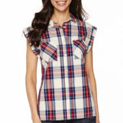 Levi's® Sleeveless Plaid Top