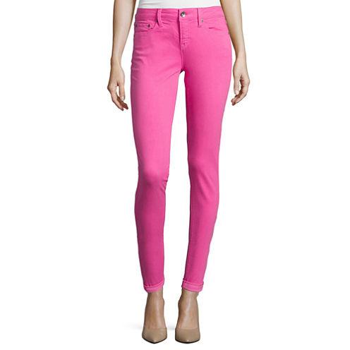 Stylus™ Mid-Rise Slim-Fit Denim Skinny Ankle Pants - Tall